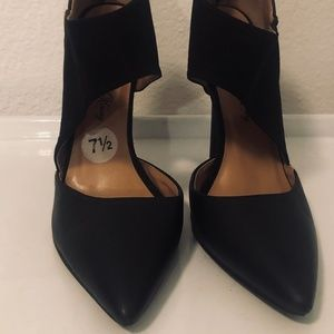 Penny Loves Kenny Shoes - Penny Loves Kenny Faux Leather/Suede Strap Heels